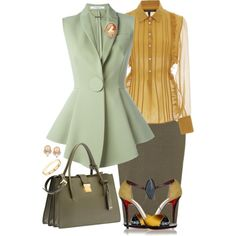 A fashion look from March 2016 featuring Marissa Webb blouses, Givenchy vests and Christian Louboutin sandals. Browse and shop related looks.