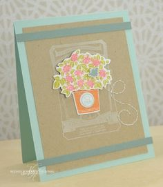 Quality Hydrangea Card by Nichole Heady for Papertrey Ink (June 2013)
