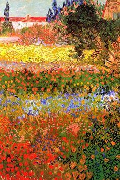 Vincent+van+Gogh+Flowering+Garden+Poster+Premium+Poster+at+AllPosters.com