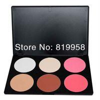 Venta caliente !! maquillaje mineral paleta rubor 6 colores en polvo frente a la paleta 02 #