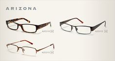 Womens Arizona Eyeglasses | Womens Arizona Frames | Womens Arizona Glasses..I like them all but the second one on top and/or the one on the bottom would be what I'd get.