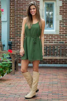 A Lot Of Sass Dress, Dark Green