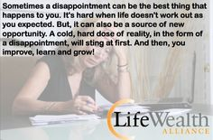 Disappointment - Quote from Russ Whitney