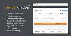 attentionGrabber: Wordpress Notification Bar