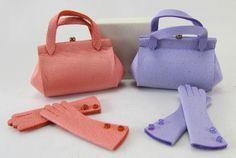 handbag and glove set