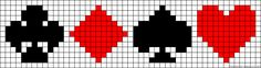 Cards game poker perler bead pattern