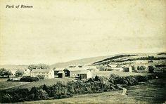 Nord-Trøndelag fylke Verdal kommune parti af Rinnan. Uvanlig oversikt mot øst Utg G.E.Ertsgaard/Th. Strandenæs Kortforlag/Carl Sund tidlig 1900-tall