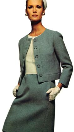 Ricci three-piece Cardigan Suit  from the Vogue Pattern Book, Autumn 1966