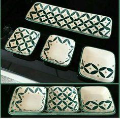 Petisqueira com desenho geométrico - - Studio Seramik