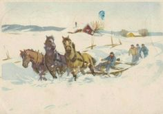 Julekort Gerhard Gjerding brukt 1947 Utg Mittet