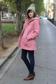Pink coat / Manteau rose by Somewhere