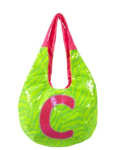 Sequin Zebra Initial Hobo Bag   Fashion Bags   Bags & Totes   Shop Justice