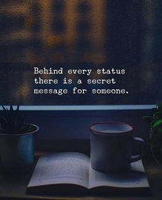 Behind every status there is a secret message for someone. via (http://ift.tt/2pqolBI)