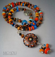 La Bohème  Pleasant  lampwork Necklace  by Michou by MichouJewelry, $149.00