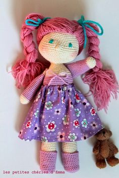 #Les petites chéries d'Emma #poupée au crochet #crochet doll handmade by me Follow me on http://instagram.com/softandpop