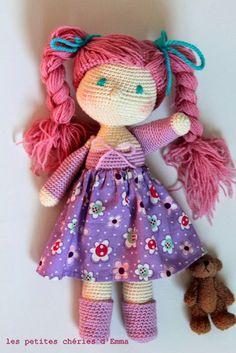 #Les petites chéries d'Emma #poupée au crochet #crochet doll handmade by me Follow me on http://instagram.com/softandpop