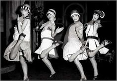 dancing the charleston in the 20's...scandalous!