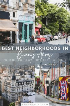 A complete guide to where to stay in Buenos Aires, Argentina including the best neighborhoods, the best hotels, hostels and Airbnb rentals. Brazil Travel, Peru Travel, Solo Travel, South America Destinations, South America Travel, Travel Destinations, Travel Inspiration, Travel Ideas, Travel Tips