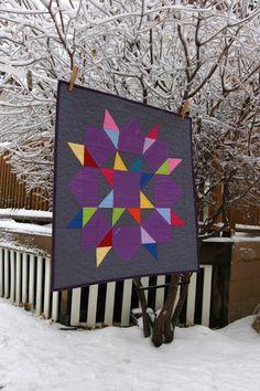 City House Studio: Solid Swoon Mini Quilt