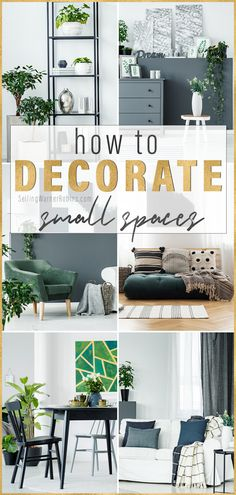 Do you need a solution for a small space in your home? With a few of my tips and tricks you can enhance any space in your home to help make it appear larger. No Closet Solutions, Small Space Solutions, Small Living Rooms, Home Living Room, Bedroom Small, Apartment Living, Decorating Small Spaces, Decorating Ideas, Decor Ideas