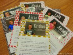 End of the Year Letter Student gift with picture