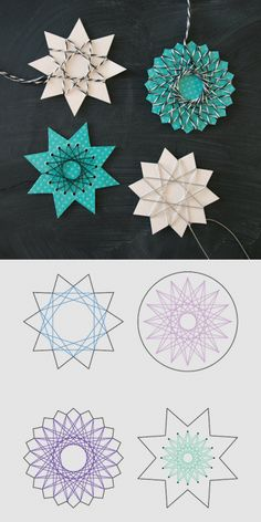 DIY 5 String Art Stars Tutorials and Templates from By Blikfang here. DIY 5 String Art Stars Tutorials and Templates from By Blikfang here. The post DIY 5 String Art Stars Tutorials and Templates from By Blikfang here. appeared first on Knutselen ideeën. Christmas Crafts For Kids, Diy Crafts For Kids, Holiday Crafts, Christmas Diy, Arts And Crafts, Christmas Ornaments, Diy Ornaments, Party Crafts, String Art Diy
