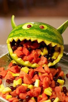 Monster Watermelon Carving