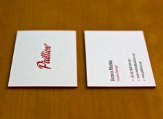 Pixillion Business Cards 2011 by Pixillion (Part 2) - I also like how the Typeface flows together with the card, its not to intense and forced but is still captivating, I also like how they've kept the design simple on the back of the card too, simple, kind and easy to read font, yet again not hard on the eyes or intense, I like how they've just kept it straight forward and put their details down and only used three colours on the whole card (red, black & white) which makes the card look…