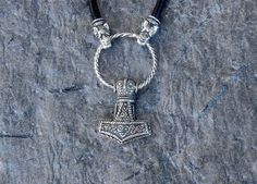 Bredsatra Thors Hammer Necklace 925 silver by NordEmporium on Etsy