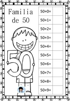 abn-vamos-a-trabajar-las-familias-de-numeros3 1st Grade Math Worksheets, Math Fact Fluency, First Grade Teachers, Simple Math, School Items, Classroom Language, Math Facts, Math For Kids, English Lessons