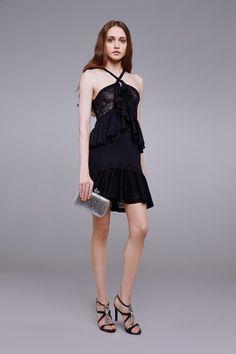Woven dress with ruffles Short Dresses Roberto Cavalli