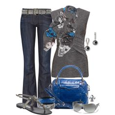 """Scrap Floral Scarf"" by hatsgaloore on Polyvore"