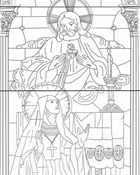 sacred heart coloring pages - photo#8