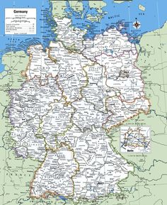 Map Of Germany With Cities And Towns At Od - csillagszuletik. Germany World Map, Cities In Germany, Germany Europe, Germany Travel, Information About Germany, Map Of Switzerland, Map Wallpaper, Printable Maps, Secret Life Of Pets