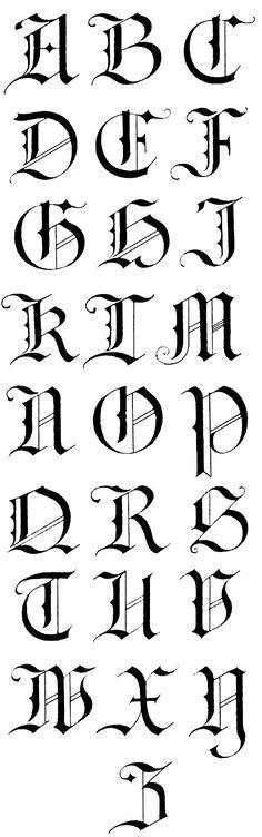 Image result for gothic font alphabet