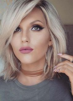 Blonde Hairstyles 36 Graceful Looks For Medium Bob Hairstyles  Pinterest  Bob