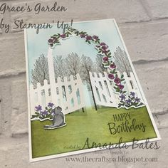 The Craft Spa - Stampin' Up! UK independent demonstrator - Order Stampin Up in UK: Grace's Garden Winter Woods Hand Made Greeting Cards, Making Greeting Cards, Fun Fold Cards, Folded Cards, Window Cards, Peonies Garden, Stamping Up Cards, Handmade Birthday Cards, Garden Crafts