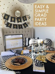 Easy & Simple Graduation Party Ideas! #MichaelsMakers -- Tatertots and Jello