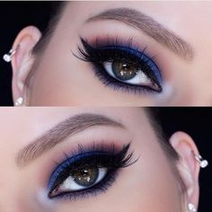 Electric Blue Smoky Eye - Pretty Holiday Party Beauty Looks - Photos