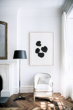 black & white corner in Ali Cayne's Greenwich Village townhouse