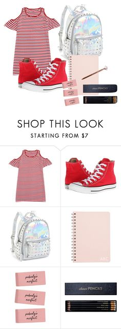 """""""Untitled #105"""" by halissiaelviracra on Polyvore featuring Converse, Bari Lynn and Sloane Stationery"""