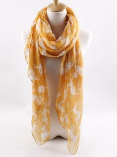 Lovely Cat Print Fashion Scarf