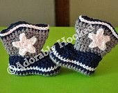 Baby Dallas Cowboy Boots, Baby Booties, Crochet Booties, Dallas Cowboys, Baby Football, MADE TO ORDER, Newborn to 12 Months