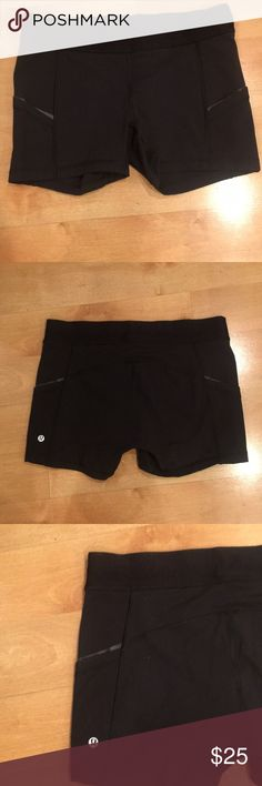 Amazing Lululemon What's the Sports Shorts Lululemon Black What's the Sports Shorts  2 Pockets with reflective strips on the side of shorts.  Washed on hand wash cycle and lined dried only. Excellent preowned condition.            Size 10 lululemon athletica Shorts