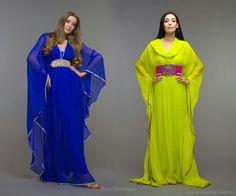 Blue and yellowish kaftan