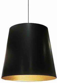 Dainolite OD-L-698 1LT Oversized Drum Pendant,Large - Blk/Gld