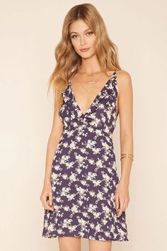 Forever 21 Contemporary woven floral print dress #thelatest
