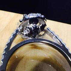 Custom @diamondboi ™ engagement ring with 3-d Mickey Mouse in the gallery! Next level shit. #diamond #diamonds #wedding #weddings #engagement #ring #rings #bride #brides #jewellery #jewelry #oval #halo #mickey #mouse #disney #diamondboi