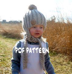 Free knit hat pattern - Toddler/Child/Teen/Adult Sizes www.BoPeepsBonnets.com