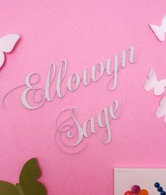 Baby name for nursery  on Etsy, $35.00